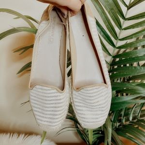 Sperry Gold Striped Espadrille Flats